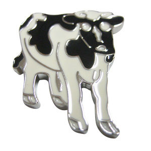 Black and White Cow Magnet